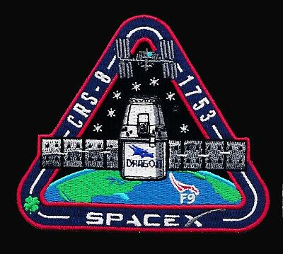 CRS-8 - SPACEX ORIGINAL Employee Numbered FALCON-9 DRAGON F-9 Mission PATCH