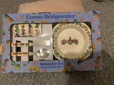 Emma Bridgewater Tractors Childrens Melamine Dining Set Dogs Like Driving