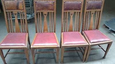 Four elegant high backed chairs from Ben Evans of Swansea.