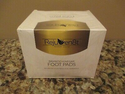 Rejuven8t Bamboo Vinegar Infused Therapeutic / Detox Foot Pads - 30 Pack - NIB