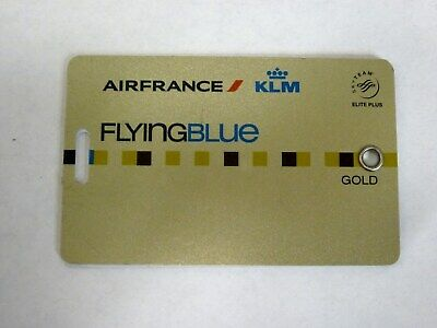 Air France KLM Skyteam Flying Blue Gold Elite Plus Luggage Baggage Tag 2019
