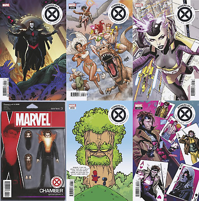 Powers Of X #5 6 Variant Lot (Marvel 2019) Figure Connecting Decades New Young
