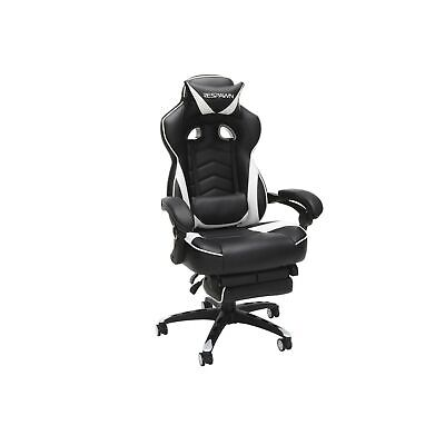 Respawn Racing Gaming Chair Reclining Ergonomic Leather Seat White RSP 110 WHT