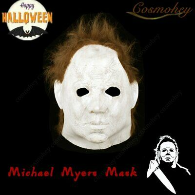 Halloween 2 1981 Ultimate Michael Myers  Mask Cosplay Latex Scary Film Party US