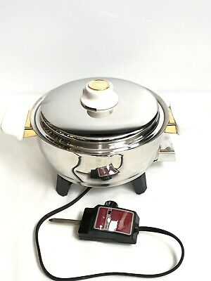 """Health Craft Oil Core Electric Skillet Frying Pan Immersible 92073 91/2"""""""