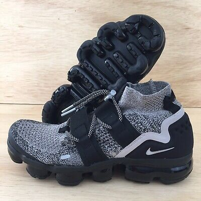 Nike Air VaporMax Flyknit Utility Oreo Moon Particle Black Men's Size 12 New