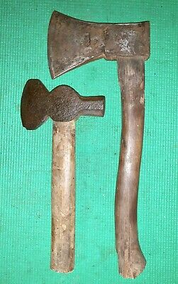 Two Vintage Hatchets - 1000 gram Old Style Head and Old Combination Hatchet