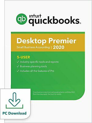 QuickBooks Desktop Premier 2020 Accounting Software for Business for Small...