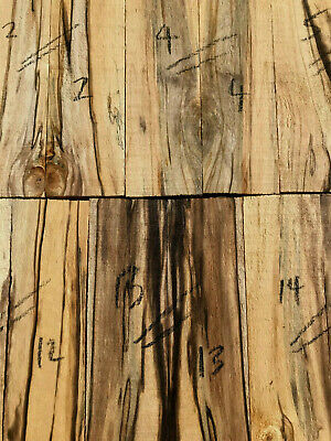 Spalted birch bookmatched knife scale knife handle set 150 x 50-25 x 11mm