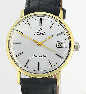 Vintage 1963 OMEGA Seamaster Date Automatic Cal 562 Gold Steel Mens Wrist Watch