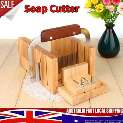Loaf Soap Mould Silicone Wooden Mold Soap Making Tools Slicer Cutter W/ Knife AU