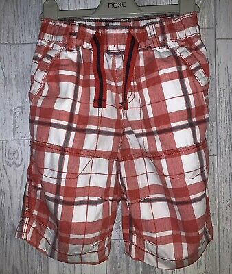 Boys Age 6 (5-6 Years) Next Checked Red / White Shorts