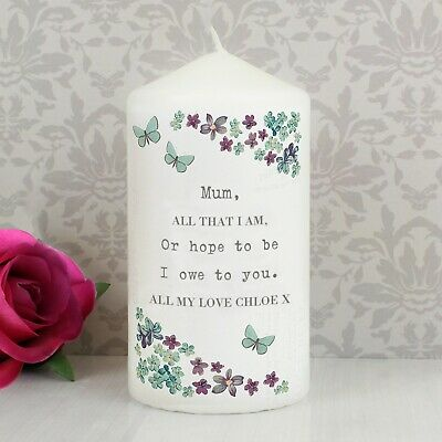 Personalised Forget me not Candle #4