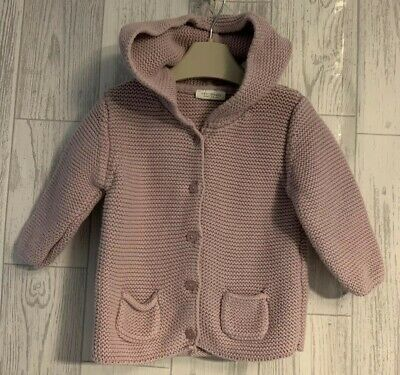 Girls Age 6-9 Months - Next Lilac Hooded Cardigan