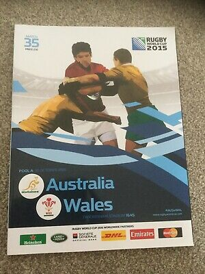 2015 RUGBY WORLD CUP  - Australia v Wales programme