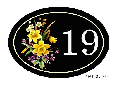 House,door,caravan name or number New Oval Range Plaque/sign PERSONALISED FREE