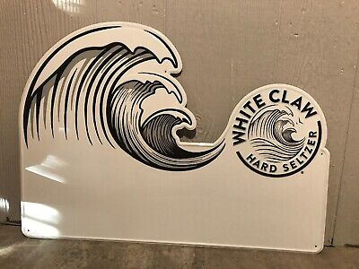 """White Claw Hard Seltzer Metal Dry Erase Beer Sign Rare 27"""" X 20"""" Free Shipping"""