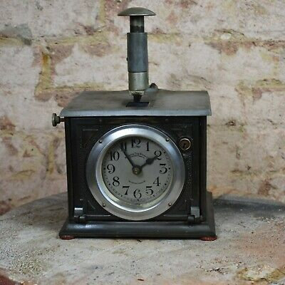 Antique Time Recorder Clocking in Machine Warwicks Time Stamp Co. London