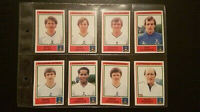 Panini Football 1985 8 Tottenham Hotspur stickers in excellent condition