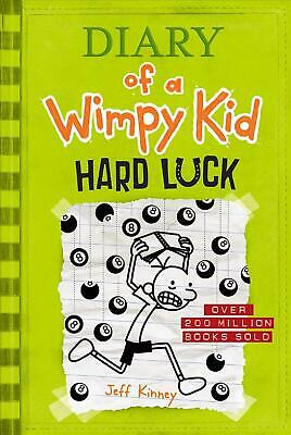 Hard Luck (Diary of a Wimpy Kid #8) by Jeff Kinney (English) Hardcover Book Free