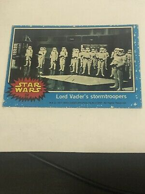 1977 Topps Vault Star Wars Blank Card #62 Coa Vader Stormtroopers Good Condition