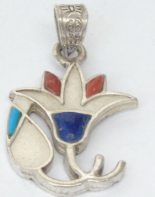 Lotus Flower Ancient Egyptian Symbol of Beauty Grace Hope Rebirth Silver Amulet