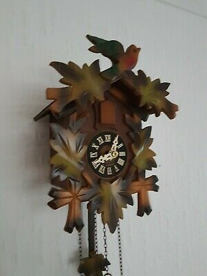 SMALL  BLACK FOREST CUCKOO CLOCK /Fully  serviced  !!