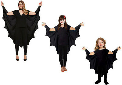 Adult Gothic Vampire Bat Wings Costume Cape Fancy Dress Halloween Outfit New