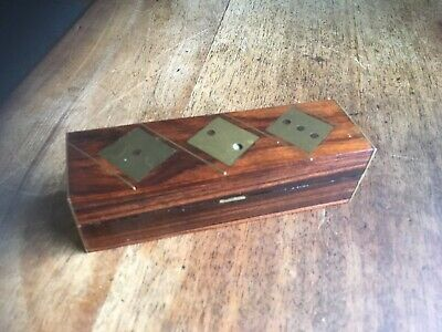 Vintage Teak Dice Box With Brass Firtings #04091908