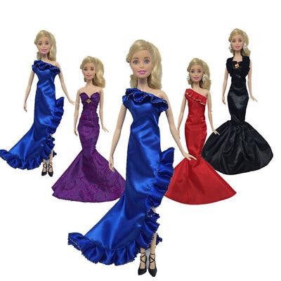 Fashion Ruffle Wedding Party Gown Mermaid Dresses Clothes For  Doll P ot