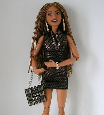 Barbie FASHIONISTAS #123 FULLY ARTICULATED HYBRID Doll With Braided Hair