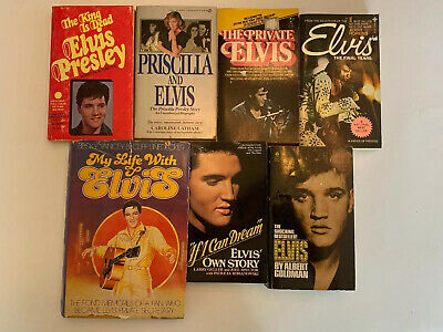 Elvis Presley Vintage Books Lot Of 7 The King Of Rock And Roll