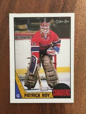 MINT 1987-88 OPC Patrick Roy 2nd year Montreal Canadiens Colorado Avalanche HoF