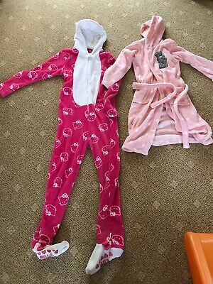 Hello Kitty All In One 13 Years And Tatty Teddy Dressing Gown 11-12years Girl