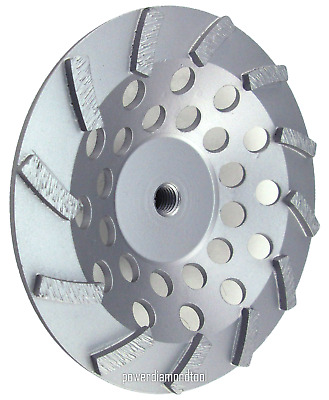 "4PK-4/"" NEW POWER DIAMOND CUP WHEEL 9 SEG GRINDING CONCRETE BRICK BLOCK 7//8-BEST"