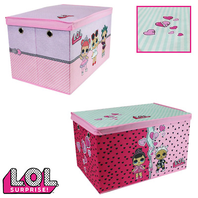 LOL SURPRISE STORAGE TOY BOX Jumbo Foldable Collapsible Ottoman Chest