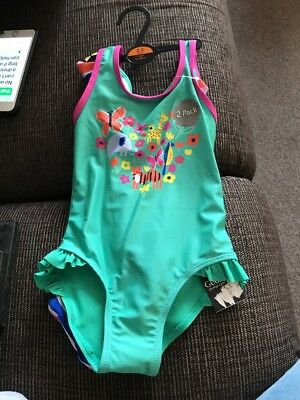 Pack Of 2 Girls Swimsuits - Age 2-3 Years - BNWT