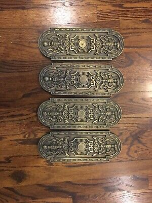 Antique Brass Architectural Salveage Wall Door Plates Ornaments Finials Plaques