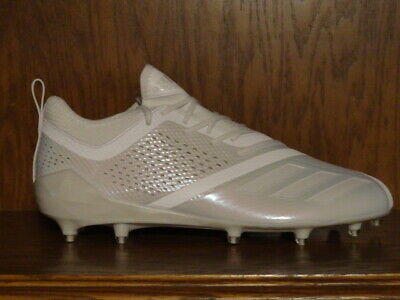 New! Mens ADIDAS adiZERO 5-STAR 7.0 Low Molded Football Cleats TRIPLE WHITE
