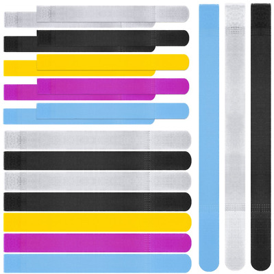 20pcs Reusable Colorful Cable Ties, maxin Cord Fastening Wraps Straps, Hook & PC