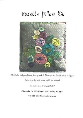 Laura Heine Rosette Pillow Kit