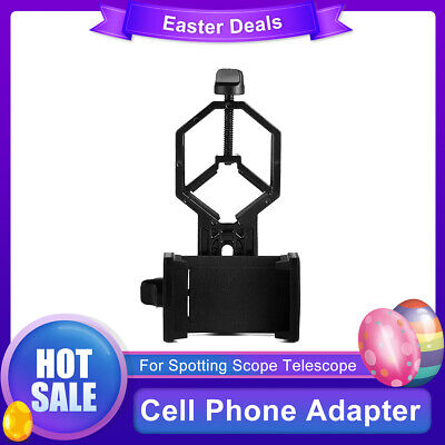 Universal Telescope Cell Phone Mount Adapter for Monocular Spotting Scope US TOP