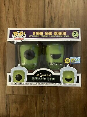 SDCC 2019 Funko Pop! Simpsons Kang and Kodos  Official Sticker Damaged