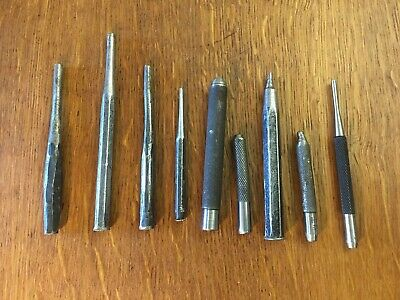 "9 Tool Lot: New 1/8"" Starrett Punch & Old Punches Too - Grind Em  - Machinist"
