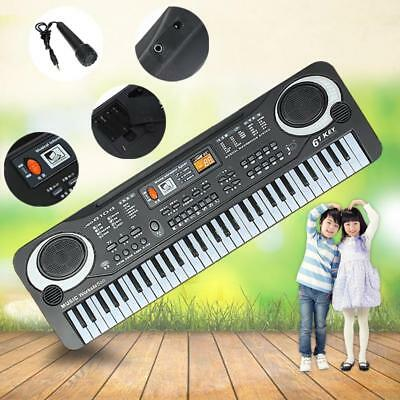 61 Key Music Electronic Keyboard Electric Digital Piano Organ Kid Musical Toy HX