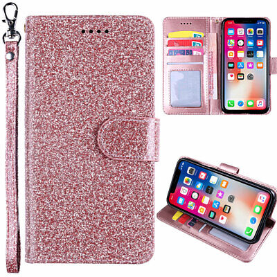 For Xiaomi Redmi 5A 5 Plus Note 5 5A Glitter PU Leather Small Buckle Case Cover