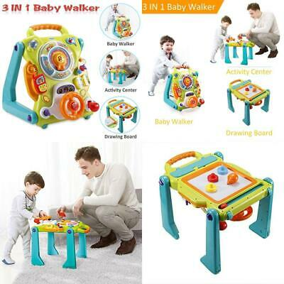 3 in 1 Baby ActivityCenter Drawing Board Sit-to-Stand Walker Entertainment Table