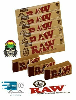 Raw Rizla Classic King Size Slim 110mm Rolling Paper And  Roach Filter Tips Uk