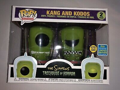 Funko Pop! The Simpsons Kang and Kodos GITD 2-Pack 2019 SDCC Exclusive