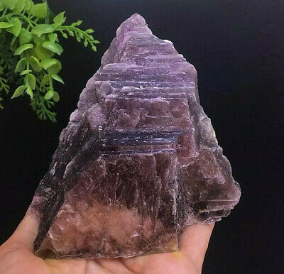 416g Natural Purple Lepidolite Quartz Crystal Rough Stone Mineral Specimen
